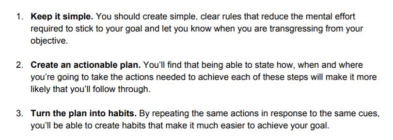 🎯3 Golden Rules  for Achieving our Goals  H/T : @jvembuna     Book Mentioned : Think Small: The Surprisingly Simple Ways to Reach Big Goals  @owainservice