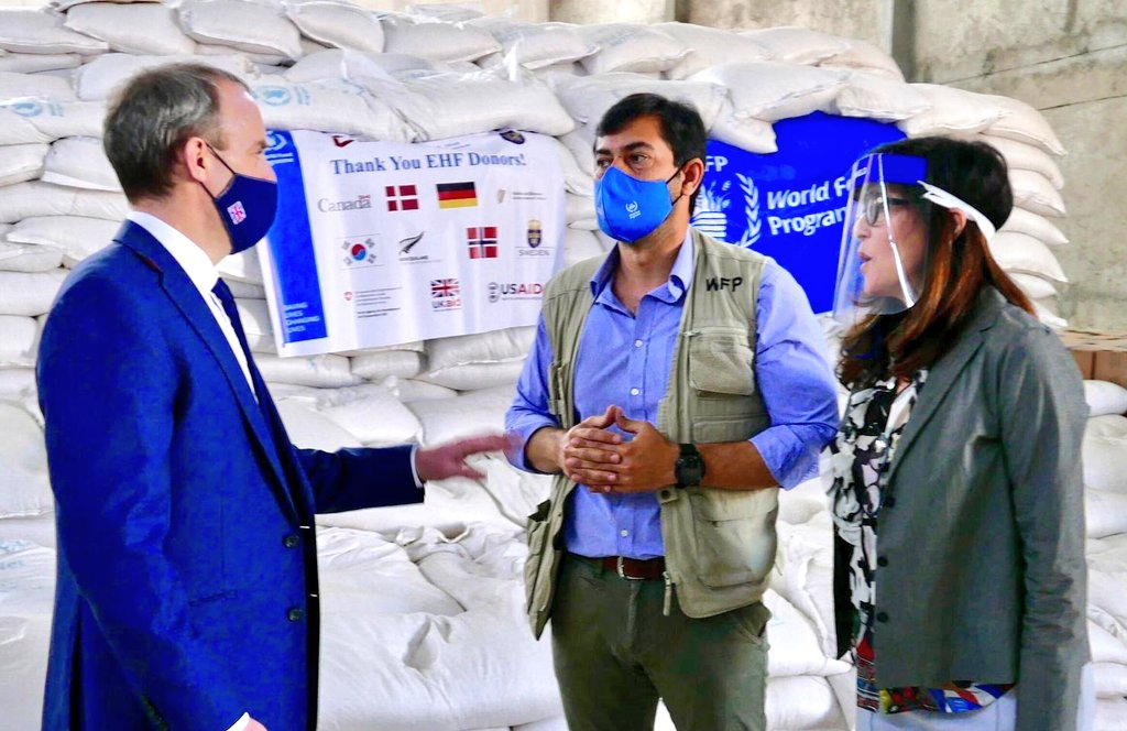 The ongoing fighting in Ethiopia's Tigray region has seen tens of thousands of people displaced. Today I saw first-hand how £11m of #UKAID is supporting @WFP and NGOs to make sure life-saving aid reaches those afflicted by the conflict https://t.co/yMzUQo0Aut