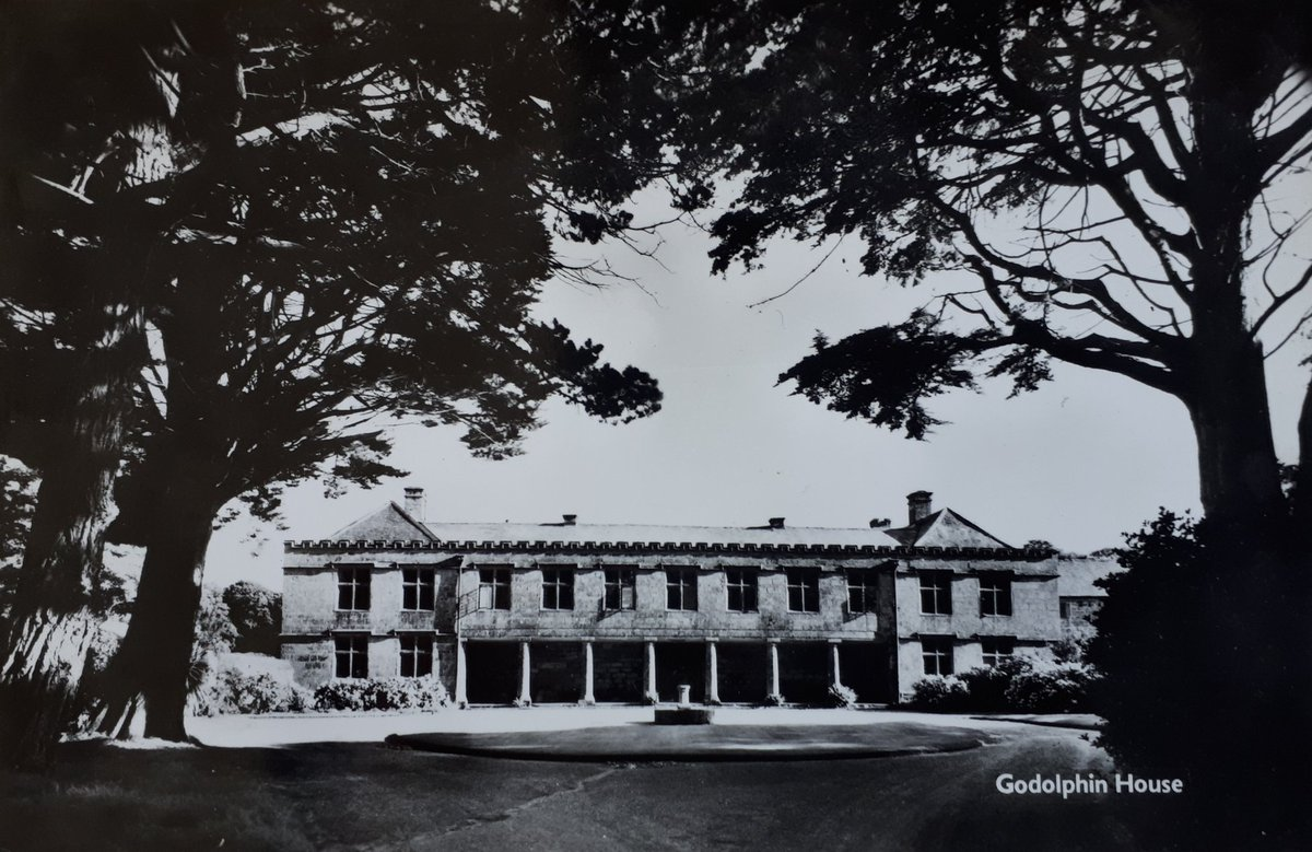 Today's old Cornish postcard is of Godolphin House near Helston . . . #Cornwall