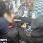 Image for the Tweet beginning: Thieves punch bodega worker, steal