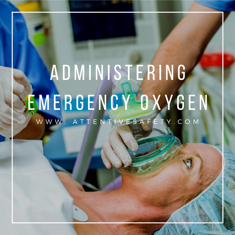 Attentive Safety CPR and Safety Training offers the American Red Cross Administering Emergency Oxygen course to give participants the knowledge and skills necessary to provide care to a victim of a breathing emergency. #oxygen #redcross #attentivesafety