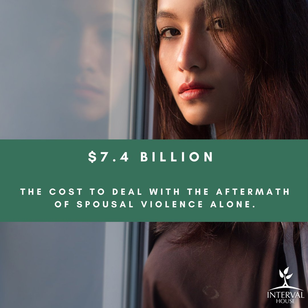 Interval House supports the survivors of intimate partner violence. Violence against women affects everyone in our community. It  costs Canadian taxpayers and the government $7.4 billion to deal with the aftermath of spousal violence alone.