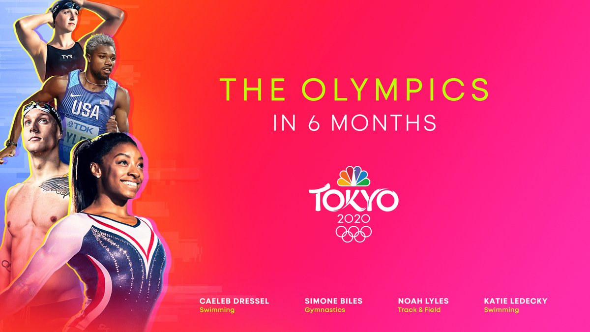In 6 months, the world will unite for the #TokyoOlympics. 🥇 @NBCOlympics