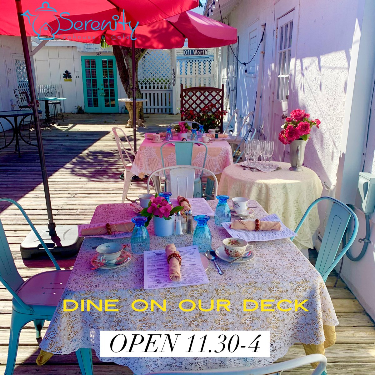 🏖🍽🥗Outdoors doing available. Call 561-655-3911 or book online at  #lunch #dinealfresco #dinelocal #tea #teatime #dineondixie #pb #pbfood #wpbfood #wpb #dinesmall #dineondixie #local #community #teahouse #ff #tgif #Teagif
