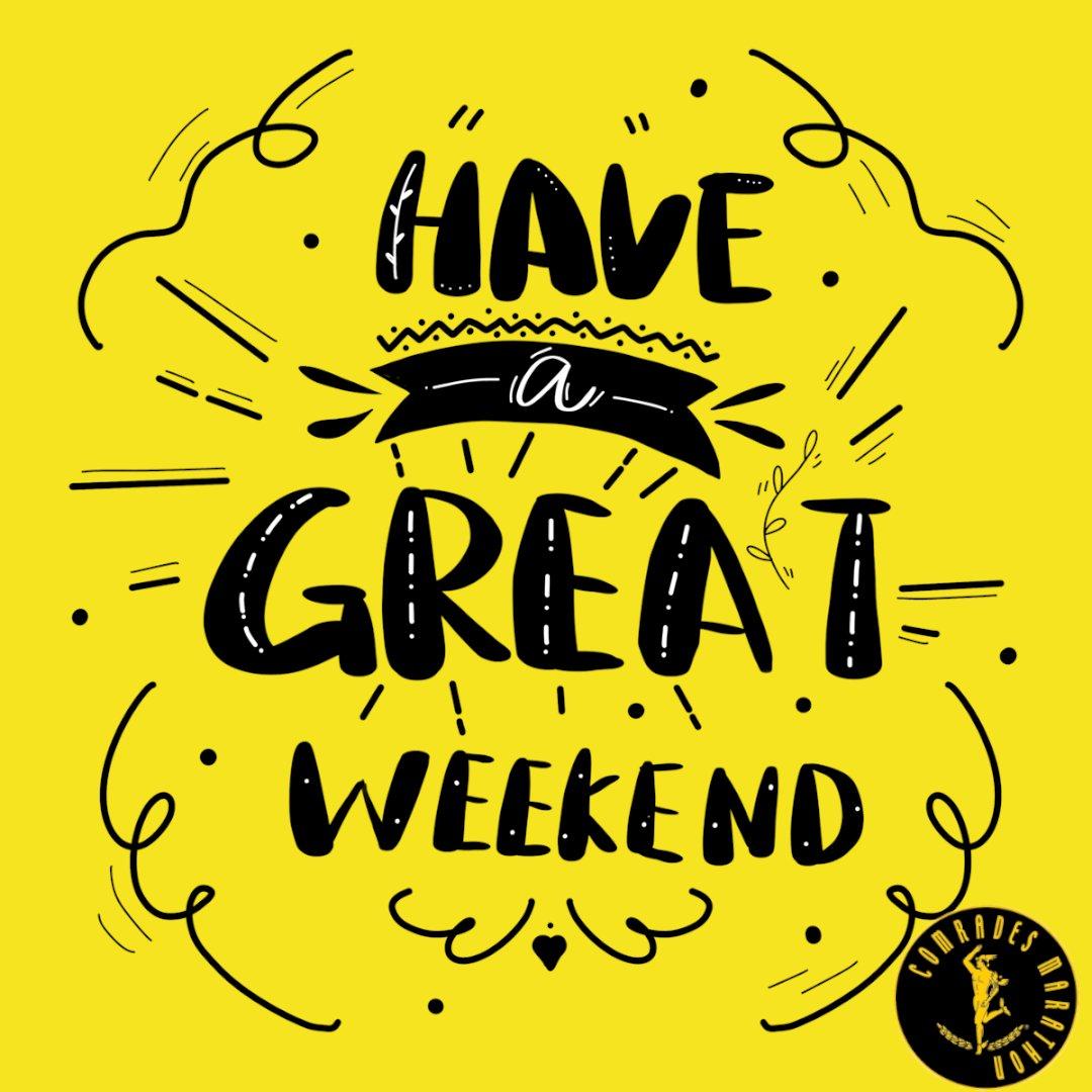From #TeamComrades, we hope that you have a wonderful weekend full of #running! 🏃♀️🏃🙌😍   #Weekend #Friyay #WeekendRuns @ComradesRace https://t.co/zUdhXVUhBD
