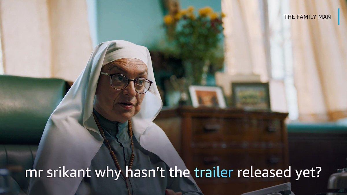 wondering where have we been?  hum Srikant ke peeche, Srikant trailer ke peeche! (1/10)   #TheFamilyManOnPrime