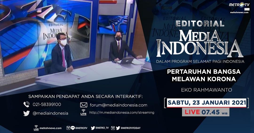 #EditorialMediaIndonesia hari Sabtu (22/1) LIVE pukul 07.45 WIB dalam program #SPIMetroTV akan membahas lonjakan kasus Covid-19 yang semakin mengkhawatirkan, bersama pembedah Eko Rahmawanto.  #metrotv #mediaindonesia