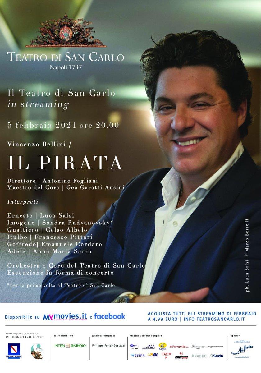 @fogliani @SondraRadvan @CelsoAlbelo e io vi aspettiamo dal @teatrosancarlo  🎫👉 Il Pirata 🗡