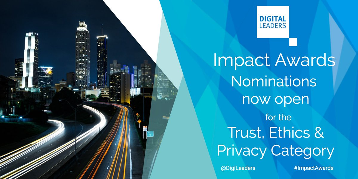 We are thrilled to announce that this year's nominations for the #ImpactAwards 2021 have opened! & we'd be over the moon if you submitted a nomination in #Trust #Ethics & #Privacy category  Nominate your choice here:   #TechForGood #DigiLeaders