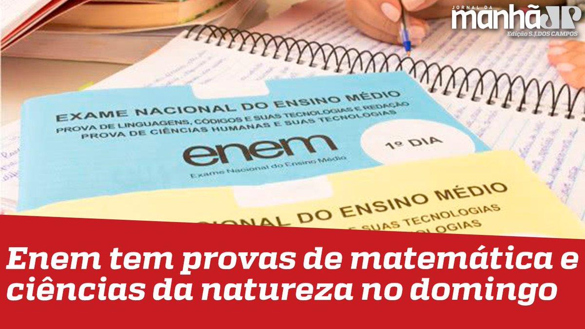Enem tem provas de matemática e ciências da natureza no domingo. Confira a entrevista -   #enem #enem2021 #educacao #jovempansjc #news
