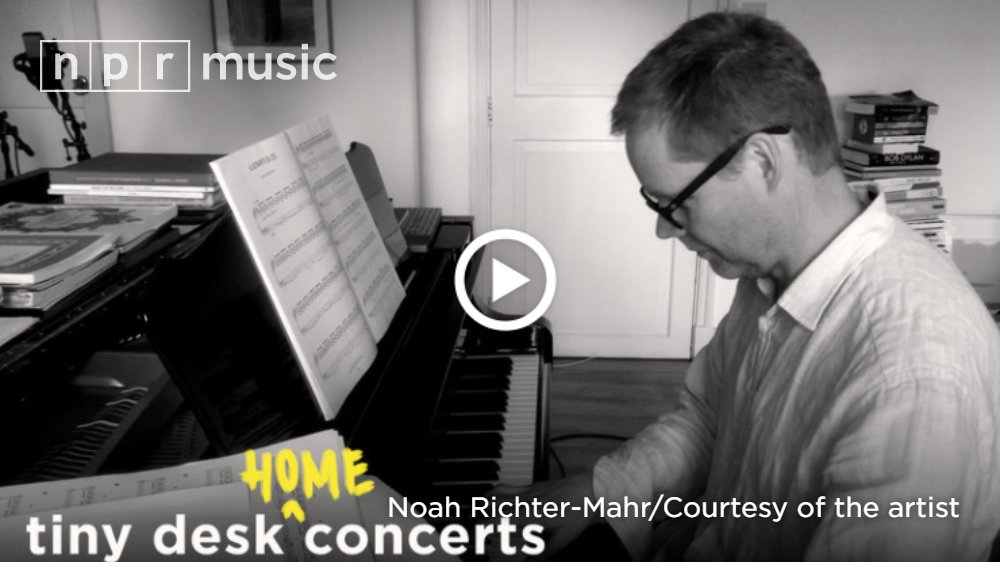 Watch @maxrichtermusic,  in a bucolic southern England setting, play six of his most tranquil, yet probing pieces in this #tiny desk (home) concert.