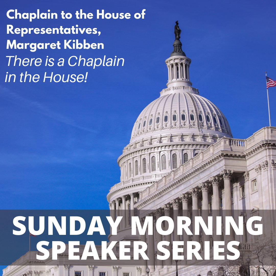Join us this Sunday at 9:30 am for our Adult Speaker Series as we welcome the new Chaplain to the House of Representatives, Margaret Kibben. More info here:  #npc #nationalpres #MargaretKibben #HouseofRepresentatives #Chaplain