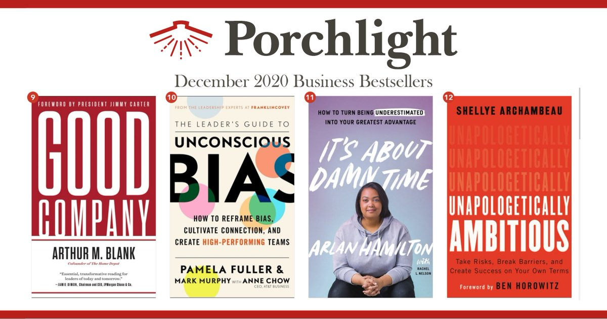 Here are December's Bestselling #Business Books, 9-12.  Featuring: #9 Arthur M. Blank #10 @pgfuller & Mark Murphy w/ @TheAnneChow #11 @ArlanWasHere #12 @ShelArchambeau (@bhorowitz)  View the full list →