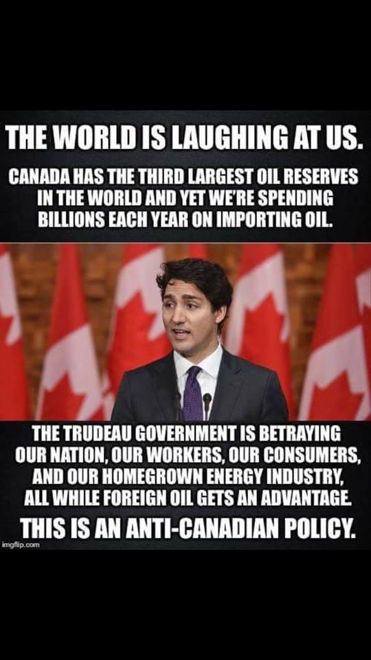 Worse than being a Global laughing stock, Trudeau has absolutely destroyed canada Alberta will Separate #albertaseparation