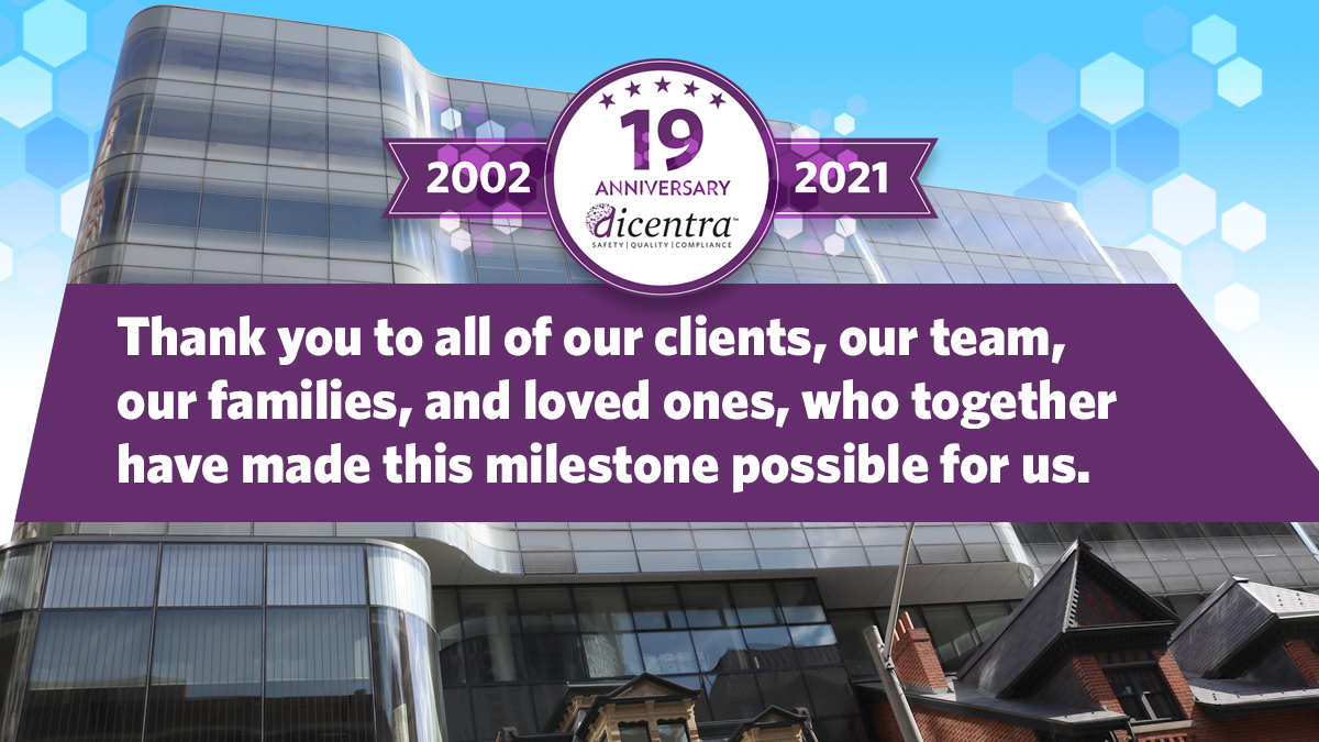 Today marks dicentra's 19th anniversary. This year, we're going to save the cake and balloons and instead extend our sincerest thanks and appreciation to all of our clients, our team, our families, and loved ones, who together have made this milestone possible for us. #ThankYou