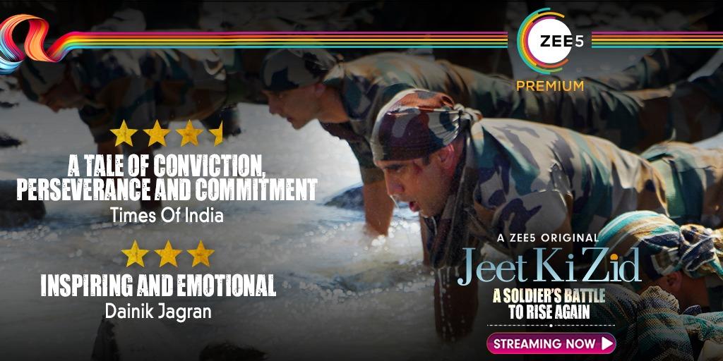 Major Deep's inspiring journey has left us all breathless 💯 #JeetKiZid Streaming Now!