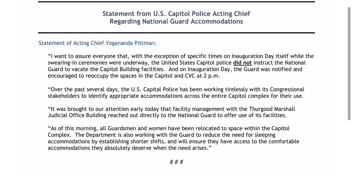 Replying to @JaredHalpern: And the Capitol Police say it wasn't them.