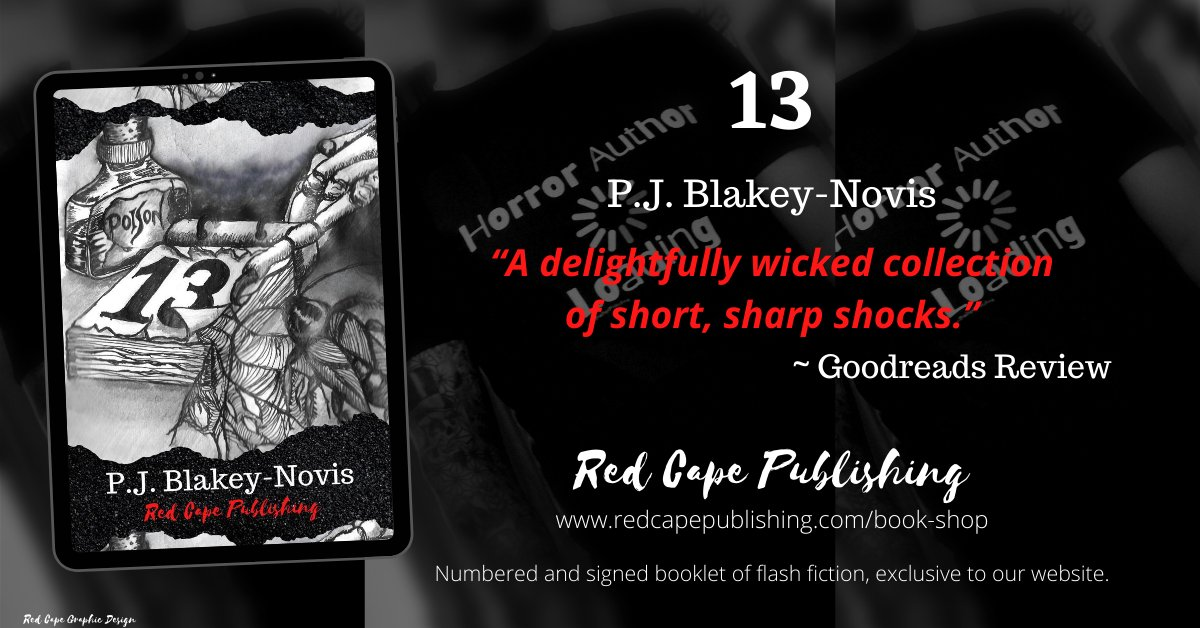From P.J. Blakey-Novis comes a limited edition, numbered and signed booklet of flash fiction, exclusive to our website. Grab yours while they are still available at  #promotehorror #limitededition #signed #flashfiction