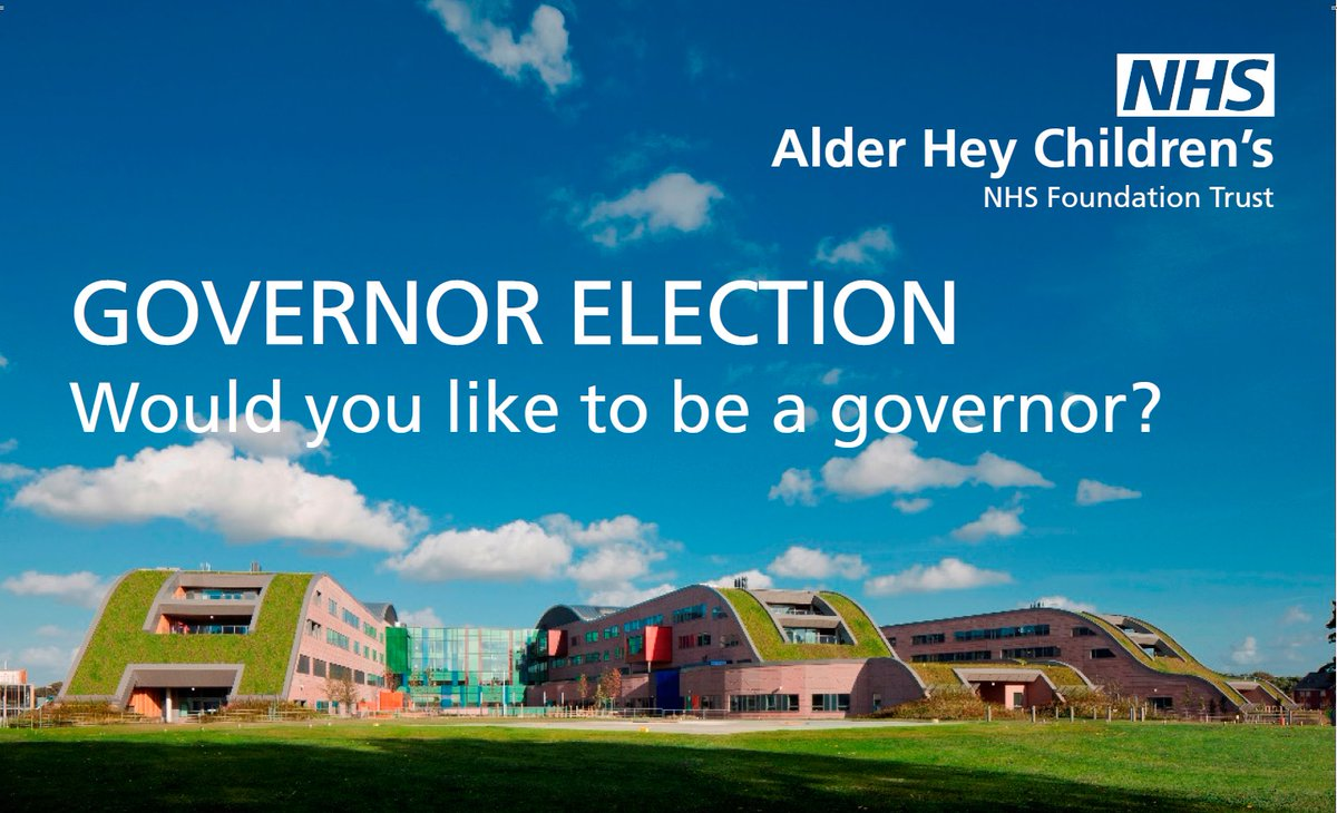 Would you like to become a governor at Alder Hey? 🏥🤔 We're looking for someone to become a Parent and Carer governor to become an ambassador for our Trust, influence decisions & have your voice heard. If you're interested, please go to 👉  for more info.