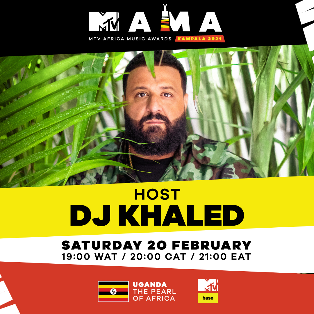Honestly been struggling to keep this a secret and now I can finally scream it out loud for the world to hear..*cue the confetti 🎉🎉🗣️   It's official @djkhaled WILL BE HOSTING THE 2021 #MTVMAMA on 20 Feb from the Pearl of Africa, Uganda!!  #VisitUganda #MTVMAMAHost @VisitUganda