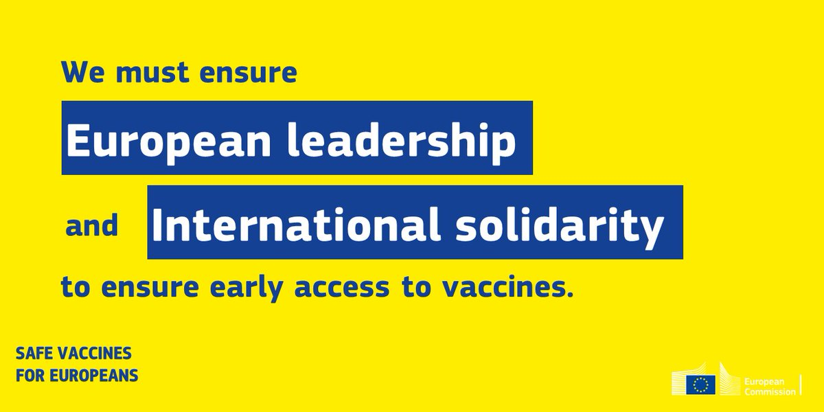 To step up the fight against the pandemic, we will: 🔹 Set up a Team Europe mechanism to structure the provision of vaccines shared with partner countries. 🔹 Continue supporting #COVAX, including through early access to vaccines. ➡️ europa.eu/!Jv67pq #StrongerTogether