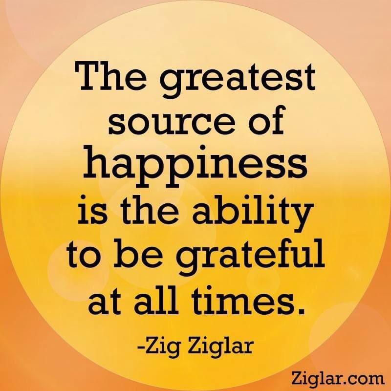 Thank you, thank you, thank you .@Twitter for offering us #GlobalCitizen this platform to communicate.  Happy Thursday   Let's be grateful as this Zig Zigler quote suggests for our collective happiness and harmony #ThursdayThoughts