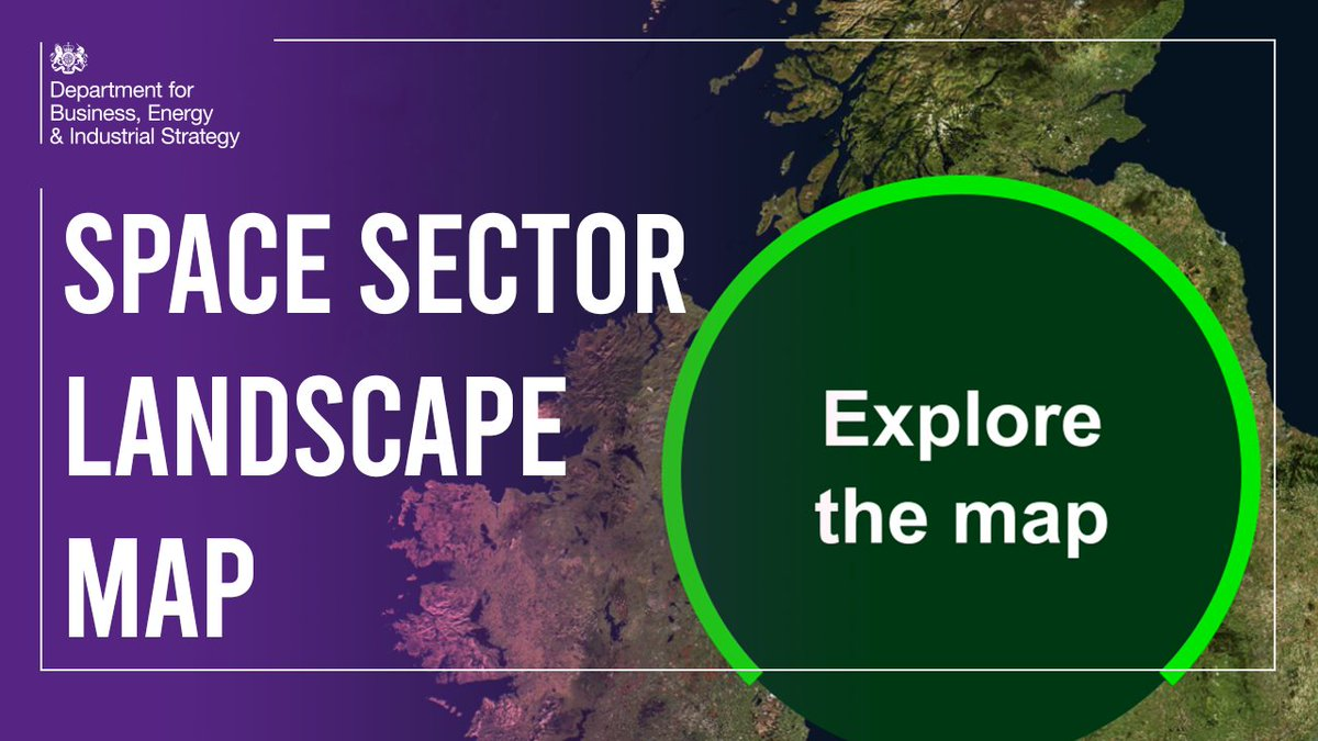 The UK's space sector is thriving 🚀 Introducing the Space Sector Landscape Map developed by @spacegovuk and @KTNUK which allows you to explore over 900 organisations that help make up this exciting industry 🛰️ Go explore! ⬇️ orlo.uk/vDLJU