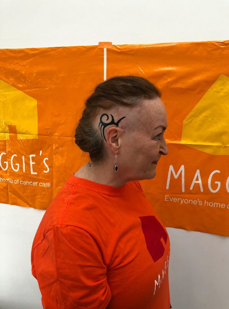 Our Friday Fundraiser this week is the amazing Mary! ⭐️ Mary has raised an incredible £3,773 for Maggie's by shaving part of her hair AND taking on the Run 50 Miles in January Challenge 🏃♀️ so far, Mary has run an amazing 73.5 miles! Thank you so much for your support Mary 🧡