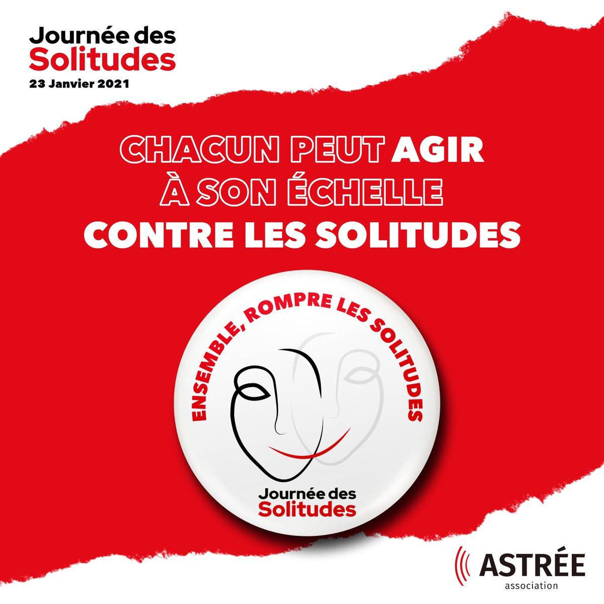 💔💪Nous nous mobilisons avec l'@asso_astree  pour lutter contre la solitude qui affecte de plus en plus de Français !  #JourneeDesSolitudes https://t.co/0sSSLWX8Vo
