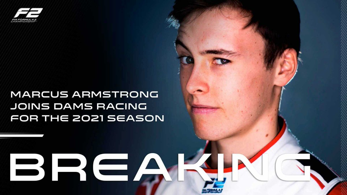 BREAKING: @MarcusArmstrng is doing 2021 with DAMS 🙌  The quick Kiwi switches to @damsracing for his second #F2 season 🇳🇿🤝🇫🇷  #RoadToF1