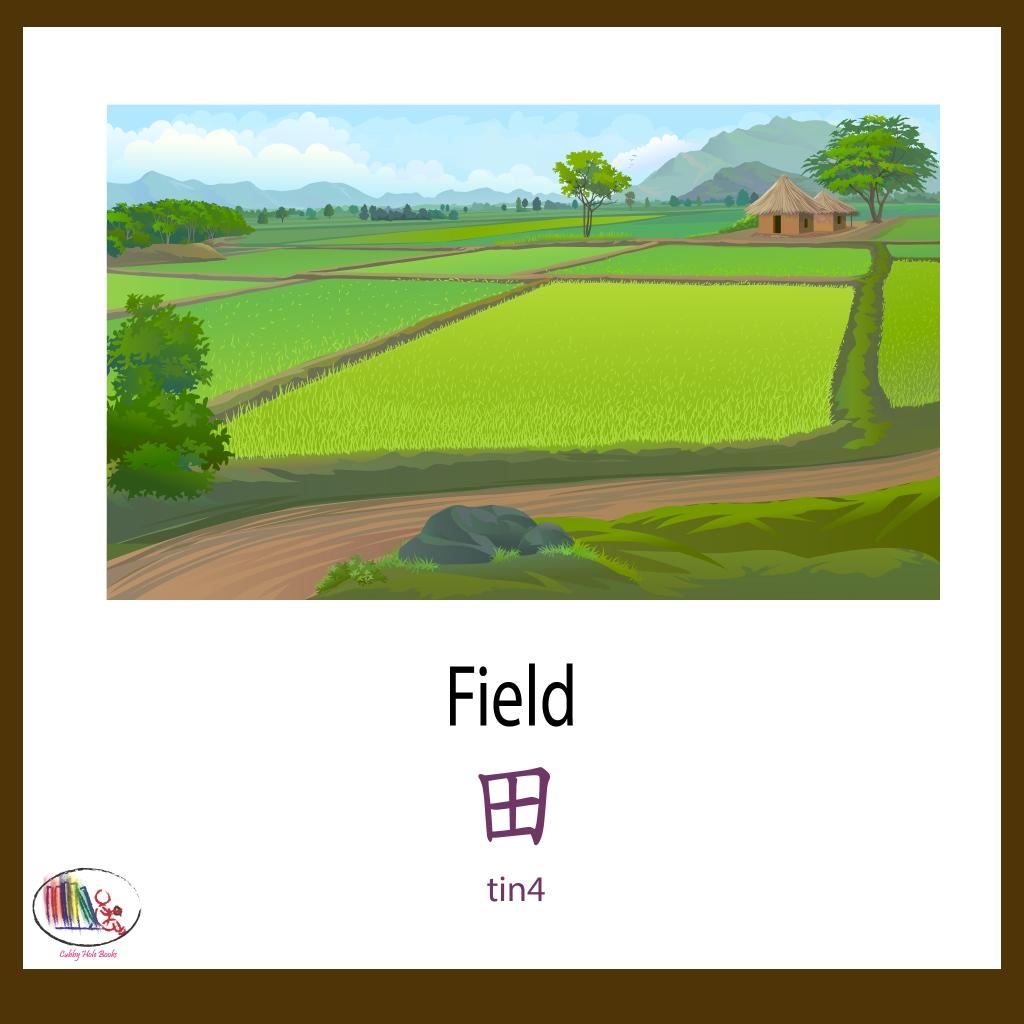 Today we have Field  #field #landscape #kidsbookstagram #childdevelopment #multilingualkids #learningchinese #bilingual #earlyyears #learning #childrensbooks #English #Cantonese #reading #jyutping #flashcards #cubbyholebooks #英文圖書 #幼兒 #兒童圖畫書 #中英雙話 #風景 #田