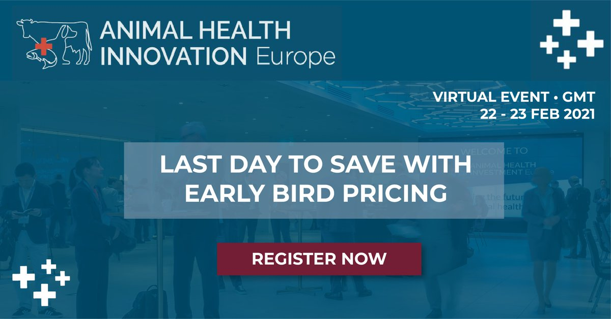 It's the last day to save up to £200 and secure your early bird tickets for the 6th Annual Animal Health Innovation Europe! Register now:   #AHInnovationEU #animalhealth #innovation