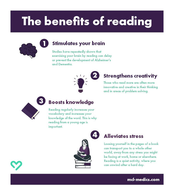 What reading can do for you!   #MCLMedics #EAP #relax #reading #benefits #health #learnsomethingnew