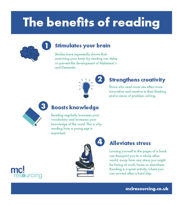 What reading can do for you!   #MCLResourcing #relax #reading #benefits #health #learnsomethingnew