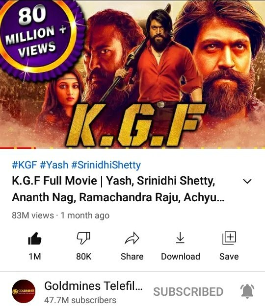 #KGFChapter1 Bhojpuri Version Hits 1M+ Likes 💥💥  ▶️   @TheNameIsYash Boss North  Craze Raising Day by Day ⚡💥   #YashBOSS  #KGFChapter2 #KGF