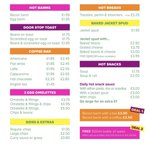Image for the Tweet beginning: New menu from Monday 25th