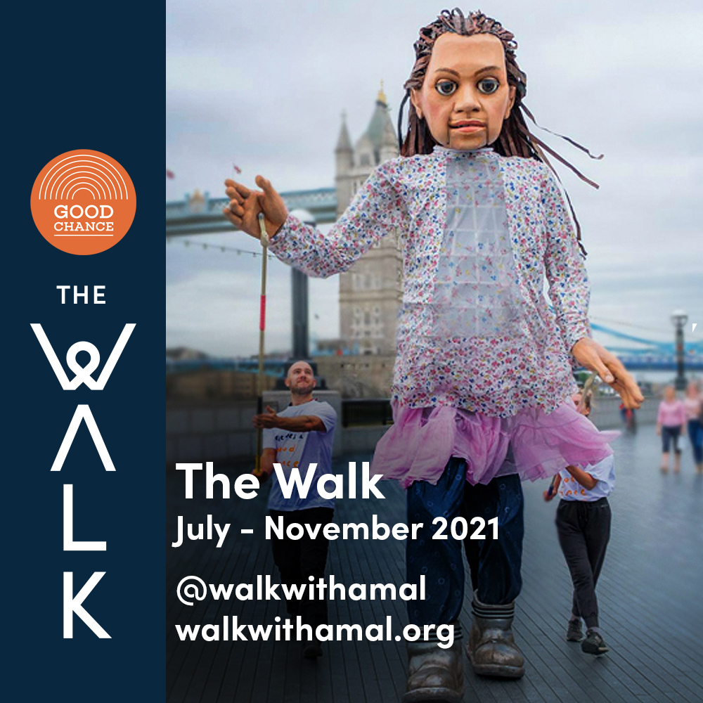 We're so pleased that @walkwithamal will go ahead later this year. For more information on this amazing project and the biggest public art event of the year, click here