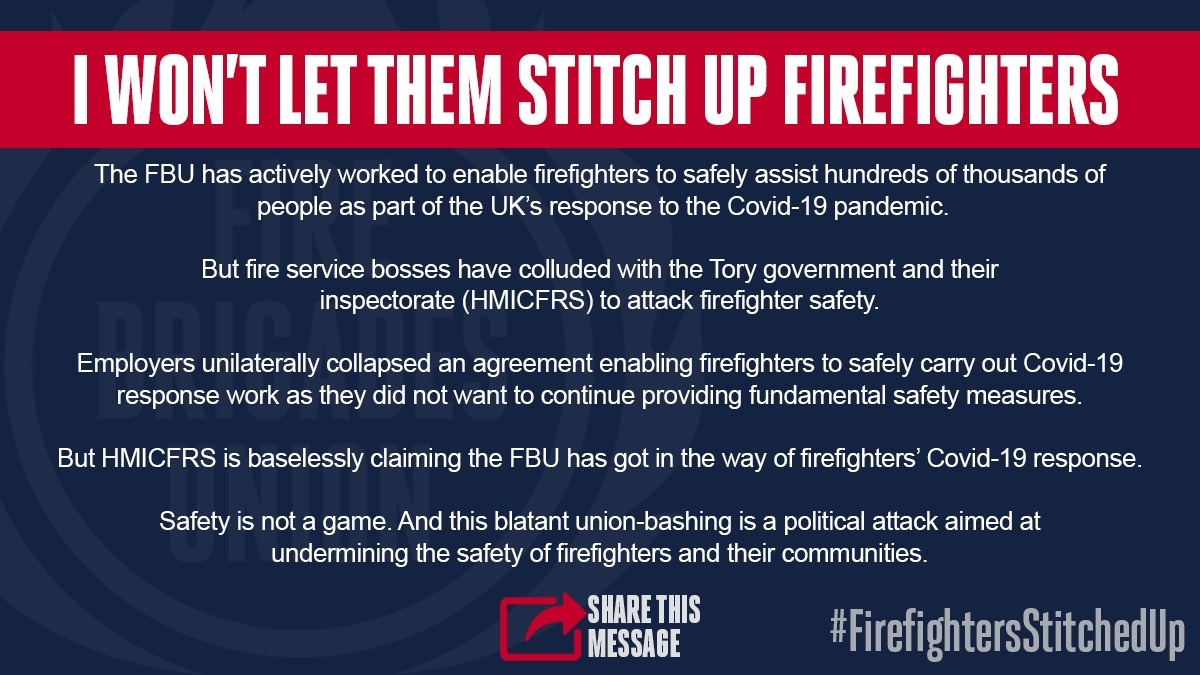 Theyre trying to stitch up firefighters. Will you let them? #FirefightersStitchedUp