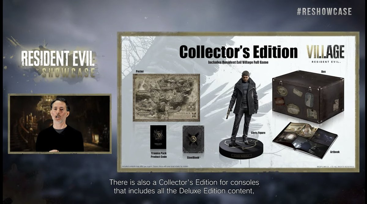 Pre-orders for the Collector's Edition of Resident Evil Village are now line on .  Go,go,go!  #REBHFun #RESIDENTEVIL8 #RE8 #ResidentEvilVillage #PS5 #Xbox #horrorgame #REShowcase
