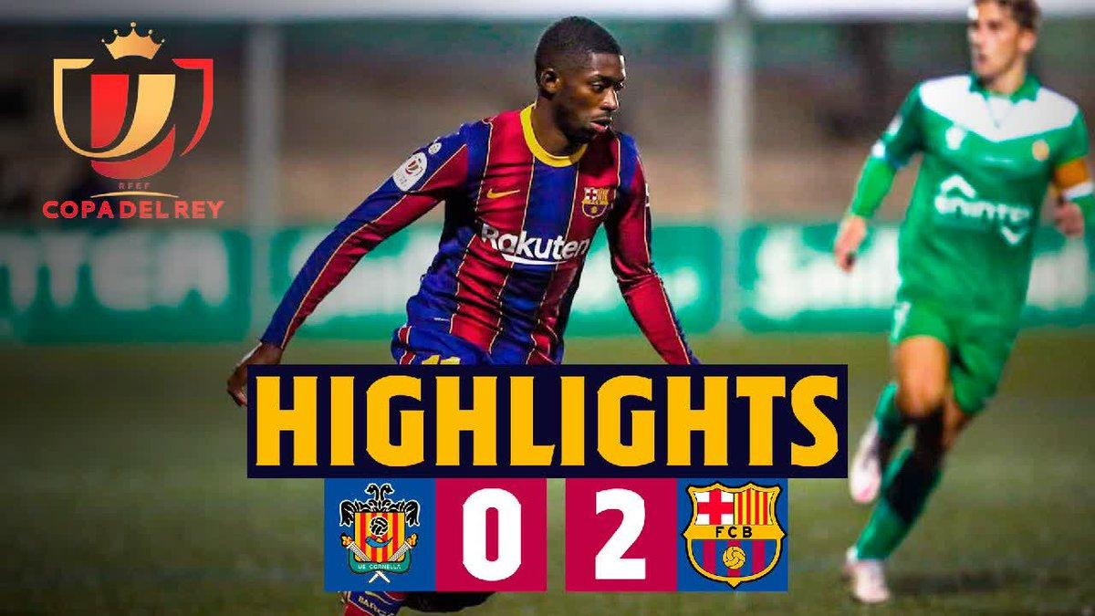 ⚡ HIGHLIGHTS: Los goles y mejores jugadas del #CornellaBarça (0-2)