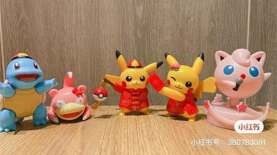 Merchandising de Pokémon en China con motivo de la celebración del Año Nuevo Chino en febrero.  Gracias a @eclipse_tt por las imágenes.