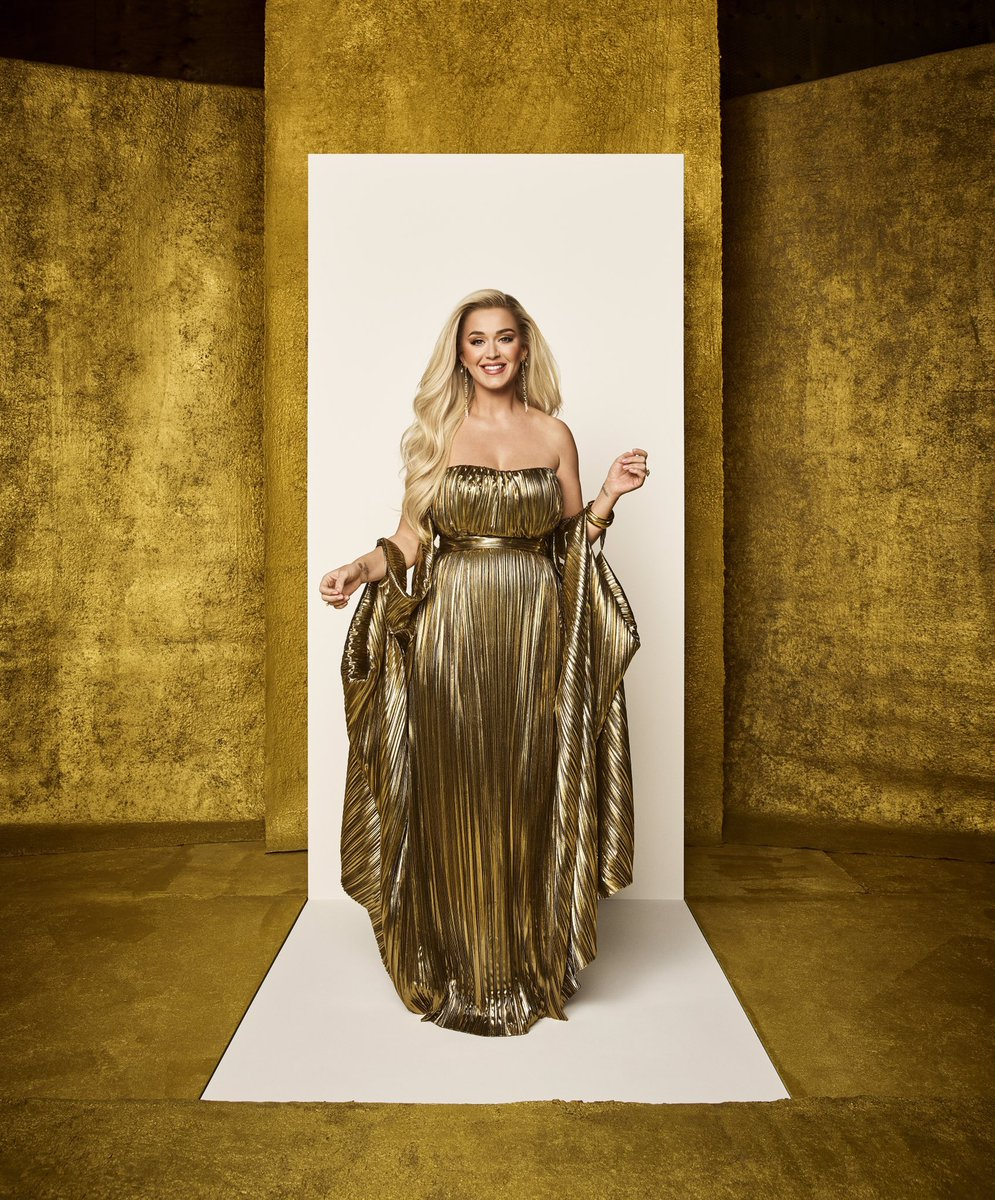 .@katyperry looks absolutely stunning in new photos for @AmericanIdol.