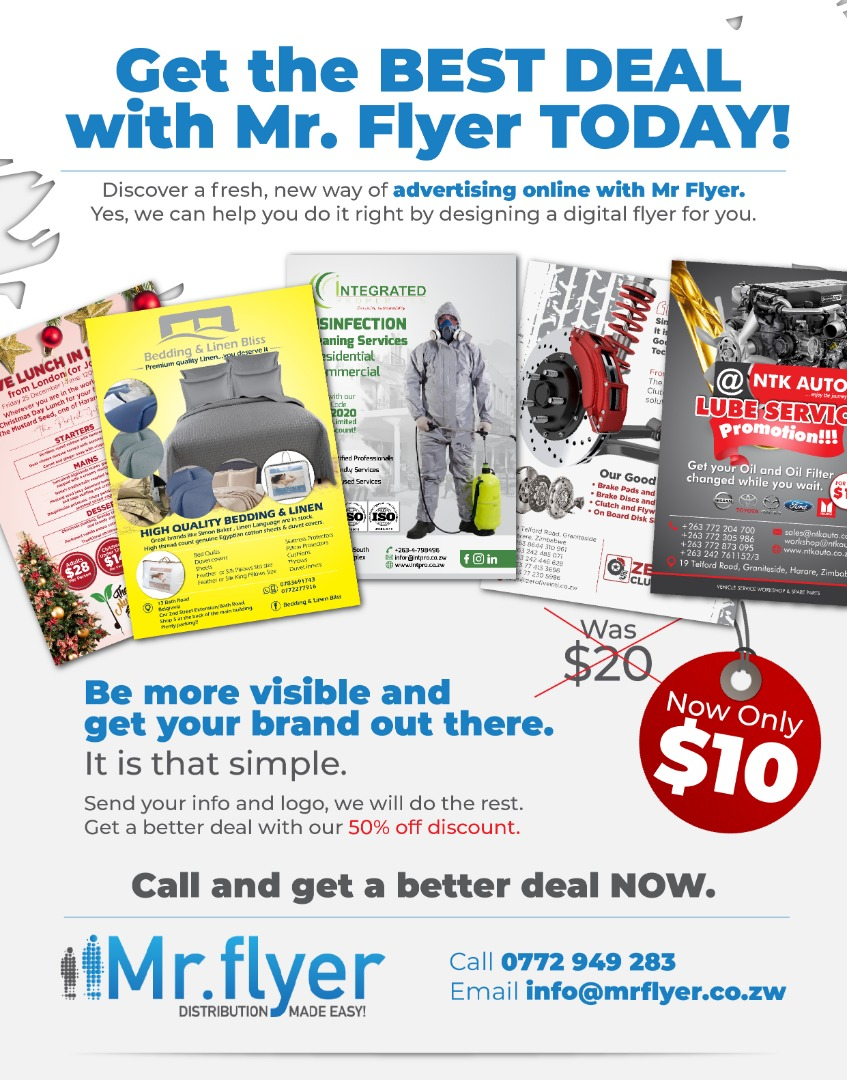 Get the best deal with Mr Flyer today! #marketing #advertising #bestdeal #harare #Zimbabwe #flyers #online #design #discover #brand #visible