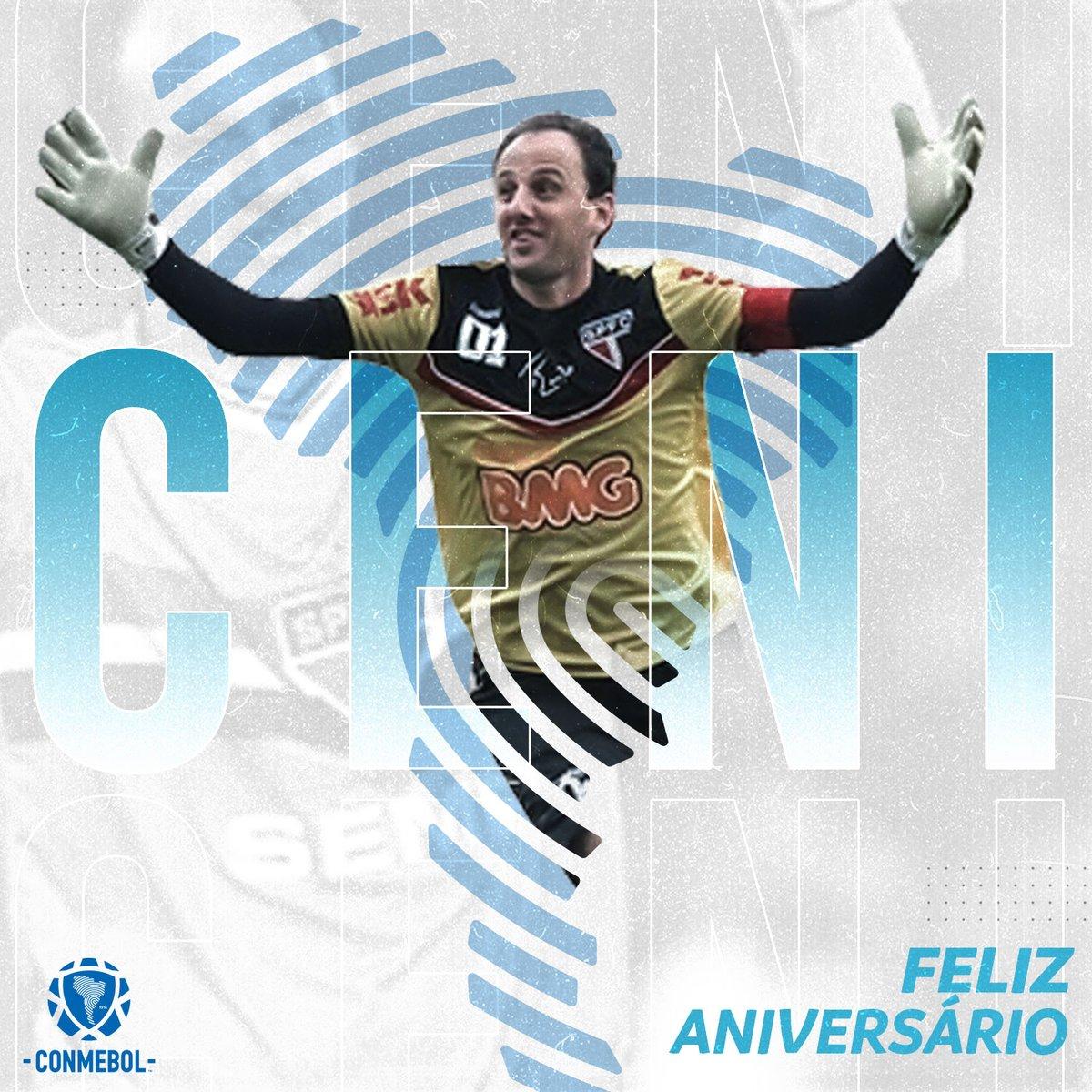 ¡Feliz cumpleaños, @rogerioceni! 🥳 Campeón de la CONMEBOL @Libertadores, de la CONMEBOL @Sudamericana y la @RecopaConmebol ⚽🙌🏼