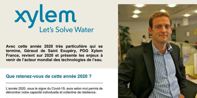 Retour sur #2020 et vision #2021, Géraud de Saint Exupéry, PDG Xylem France, présente les enjeux à venir de l'acteur mondial des #technologies de l'#e...