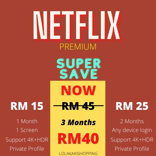 This buyer dah join game shopee lolakakishopping dapat voucher RM5 guys bole beli Netflix kaw kaw untung dari RM40 jadi Rm35 untuk 3 bulan langganan   Shoppe Link :   #ShopeeMY #bpn #discount #CNY #Sales #Malaysia #MCO2
