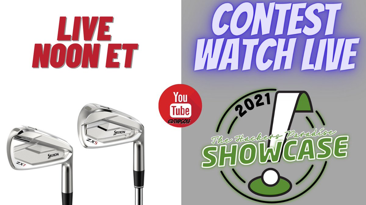 🚨🚨 HUGE CONTEST 🚨🚨  Today during the THP Showcase with @SrixonGolf we will be giving away a brand new set of ZX irons.  Tune in to win.  Details -->