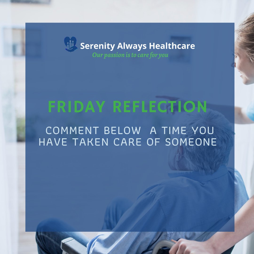Its time to reflect, now that it is the end of the week. Comment below a time you have taken care of someone, could be a friend or family member 😊 Let us know in the comments below.  . . #healthcare #Carers #care #reflection #friday #Wolverhampton #comment #uk #healthcareworkers