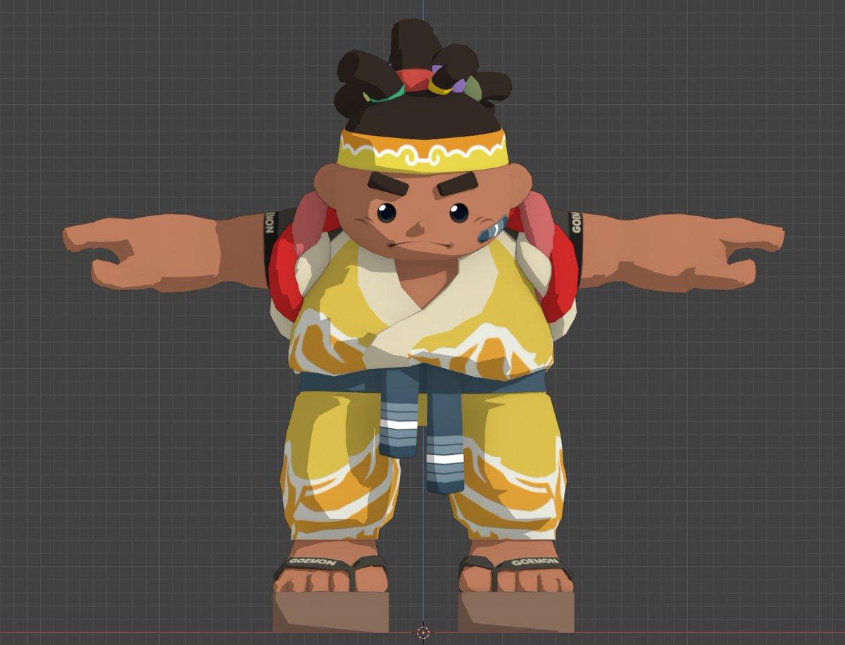 "Finally made a better ""shoulder wrap"" for Goemon  We've raised 27%!  Bravo backers!   #indiegame #fundraising #gamedev #indiedev #fridaymorning #morninglivesabc #FridayVibes #IndieGameDev #game #GamerGram #PlayStation5 #ResidentEvilVillage #gamer #Japan"