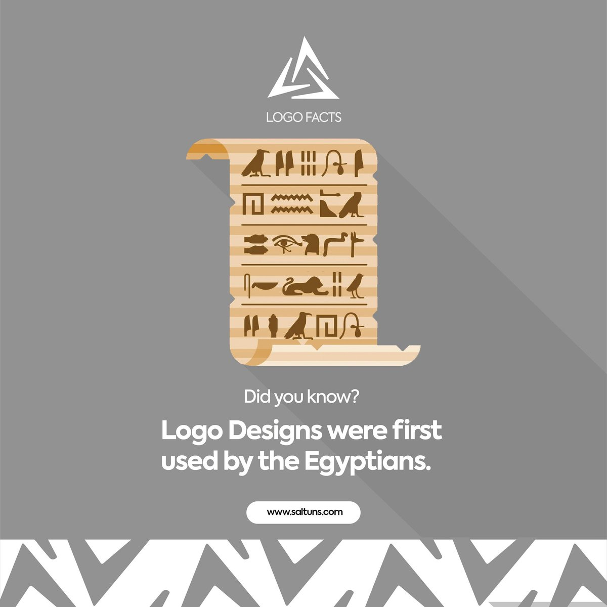 Logo designs date back to the 13th Century when Egyptians branded their animals with heiroglyphics. It signified the attributes and name of the owner of the animal. When done right, a brands logo or design shows the brands message to it's audience. #design #fridaymorning  #Logo